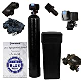 Fleck 5600sxt Metered On-demand 48,000 Grain Water Softener with brine tank, bypass and 1' adapters