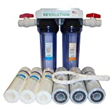 Reverse Osmosis Revolution 3/4' Port Dual Stage Whole House Water Filtration System with Sediment & CTO Filters