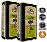 Ellora Farms | Global Award Winner | Single Estate Traceable Extra Virgin Olive Oil | Cold Pressed | Certified PDO Kolymvari | Harvested in Crete, Greece | Kosher OU | 1 Lt (33.8 oz) Tins | Pack of 2