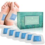 Foot Pads for Cleansing, Better Sleep, Increased Energy - Bonus Foot Mask - 30 Cool Mint Bamboo Vinegar Patches - All Natural Ingredients, FDA Certified, Strongest Adhesive, 2 in 1 Pad