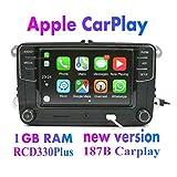 Amzparts RCD330 RCD330G Plus CarPlay App 6.5' MIB Car Radio for VW Tiguan Golf 5 6 Jetta MK5 MK6 Passat Polo Touran 6RD035187B