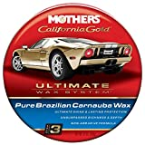 Mothers 05550 California Gold Pure Brazilian Carnauba Wax Paste (Ultimate Wax System, Step 3) - 12 oz.