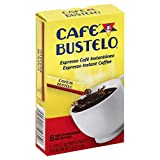 Cafe Bustelo Espresso Instant Coffee, 6 Single Serve Packets (Pack of 12)