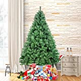 Ztotop 7.5 Foot Premium Spruce Hinged Artificial Christmas Tree with Seperate 700 Clear Lights and Sturdy Stand