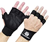 Fit Active Sports New Ventilated Weight Lifting Gloves with Built-in Wrist Wraps, Full Palm Protection & Extra Grip. Great for Pull Ups, Cross Training, Fitness & Weightlifting. (Men & Women)