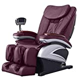 Full Body Electric Shiatsu Massage Chair Recliner with Built-in Heat Therapy Air Massage System Stretch Vibrating for Home Office Living Room PS4,Burgundy