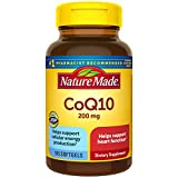 Nature Made CoQ10 200 mg, Dietary Supplement for Heart Health and Cellular Energy Production, 105 Softgels, 105 Day Supply