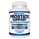 Prostate Supplement - Saw Palmetto + 30 Herbs - Reduce Frequent Urination, Reduce Hair Loss, Support Stamina – Single Homeopathic Herbal Extract Health Supplements - Capsule or Pill - Arazo Nutrition