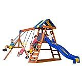 Backyard Discovery Dayton All Cedar Wood Playset Swing Set