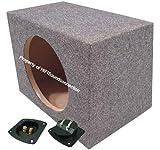 Car Audio Single 15' Sealed Subwoofer Rear Angle Sub Box Enclosure 3/4' MDF Wood