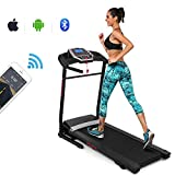 ANCHEER Electric Folding Treadmill, APP Control Running Machine