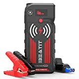 BEATIT G18 2000Amp Peak 12V Portable Jump Starter (Up to 8.0L Gas and Diesel Engine) 21000mAh Power Bank With Wireless Charger Smart Jumper Cables