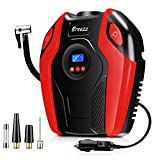Breezz Air Compressor, 12V DC Portable Auto Tire Pump with Digital Display Pressure Gauge up to 150PSI for Car, Bicycle and Other Inflatables