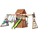 Backyard Discovery Saratoga All Cedar Wood Playset Swing Set
