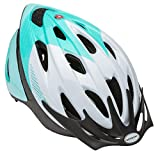 Schwinn Thrasher Lightweight Microshell Bicycle Helmet Featuring 360 Degree Comfort System with Dial-Fit Adjustment, Adult, Teal