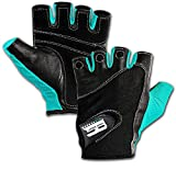 RIMSports Weight Lifting Gloves for Gym - Premium Workout Gloves Lifting Weights Washable Gym Gloves Leather Palm Padded Thumb Protected Against Calluses Blister Cycling Rowing Training Gloves