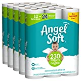 ANGEL SOFT Toilet Paper Bath Tissue, 60 Double Rolls, 260+ 2-Ply Sheets Per Roll