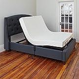 Classic Brands Adjustable Comfort Affordamatic Upholstered Adjustable Bed Base/Foundation, Twin XL