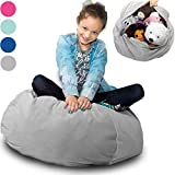 Large Stuffed Animal Storage Bean Bag'Soft 'n Snuggly' Corduroy Fabric Kids Prefer Over Canvas - Replace Mesh Toy Hammock or Net - Store Blankets/Pillows Too - 4 Colors