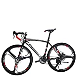 Eurobike Road Bike EURXC550 21 Speed 54 cm Frame 700C 3-Spoke Wheels Road Bicycle Dual Disc Brake Bicycle
