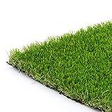 Synturfmats 6'x12' Artificial Grass Carpert Rug - Premium Indoor/Outdoor Green Synthetic Turf, 4-Toned Blades