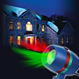Star Shower Motion Laser Light by BulbHead - Indoor Outdoor Laser Light for Hassle-Free Holiday Decorating – Sparking or Still Red and Green Laser Lights Cover up to 3200 Square Feet