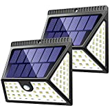ZOOKKI 82 LED Solar Lights Outdoor, Solar Motion Sensor Lights with Wide Angle Waterproof Wall Light Wireless Solar Powered Security Lights for Garden Fence Deck Yard Garage Driveway 2 Pack
