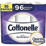 Cottonelle Ultra ComfortCare Toilet Paper, Soft Bath Tissue, Septic-Safe, 36 Family+ Rolls