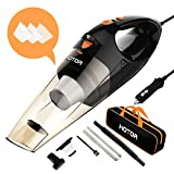 Car Vacuum Cleaner High Power, HOTOR Vacuum for Car, Best Car Vacuum, Handheld Portable Auto Vacuum Cleaner Powered by 12V Outlet of Car – Black & Red