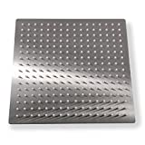Qomolangma 12 Inch (12'') Rain Brushed Shower Head. 12-Inch Side,1/16'' Ultra Thin Showerheads.30 CM 30 CM Stainless Steel Shower