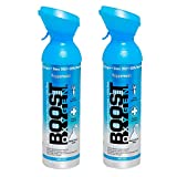 2 Pack Large 10-Liter Boost Oxygen Portable Pure Canned Natural Oxygen Canister Bottle for High Altitudes, Athletes, and More, Peppermint