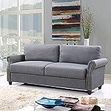 Divano Roma Furniture Classic Sofas, Light Grey