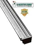 A-M Aluminum Gutter Guard 5' (100 Feet, Mill Finish)