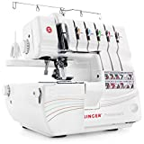 SINGER | Professional 14T968DC Serger Overlock with 2-3-4-5 Stitch Capability, 1300 Stitches per minute, & Self Adjusting - Sewing Made Easy,White