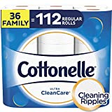 Cottonelle Ultra CleanCare Toilet Paper, 36 Family Rolls, 224 Sheets Per Roll