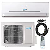 9000 Btu 22.5 SEER Ductless Mini Split Air Conditioner Heat Pump System 208-230 Volt with 15ft Kit (9000 Btu)