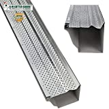 A-M Aluminum Gutter Guard 5' (100 Feet, Mill Finish)