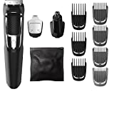 Philips Norelco Multigroom All-In-One Series 3000, 13 attachment trimmer, Black, 13 Count