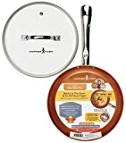 Copper Chef 10 Inch Round Frying Pan With Lid -Skillet with Ceramic Non Stick Coating. Perfect CookwareForSaute And Grill