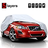 "KAKIT 5 Layers Universal SUV Cover Waterproof All Weather Heavy Duty Sun Protection Scratch Resistant for Automobiles Outdoor(Up to 210"")"