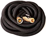 Riemex Expandable Hose 25 FT Black [New 2019] Heavy Duty Garden Water Hose - Triple Latex - Expanding Solid Brass Metal Fittings Connectors, Flexible Strongest - for All Watering Needs 25FT