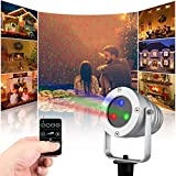 Starry Animated Outdoor Laser Light,Red Laser Animation Projector for Chritmas (Red & Green)
