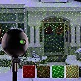 Christmas Lights, Laser Lights, Christmas Projector Lights Landscape Spotlights Waterproof Outdoor Xmas Light for Halloween Patio Yard Garden with Remote Controller (Color Changing)