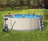 Rugged Steel 12-ft Round 48-in Deep Metal Wall Swimming Pool Package